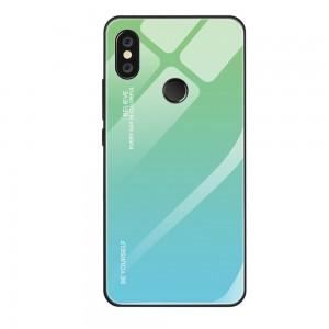 Capa Dura Emborrachada Vidro Temperado Gradiente Azul Claro Verde Claro Essager Be Yourself Xiaomi Mi 8 Lite Img 01
