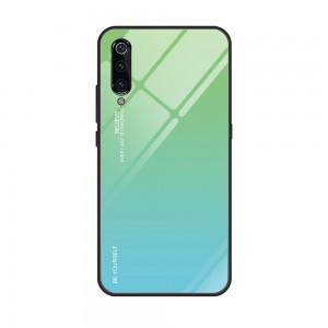Capa Dura Emborrachada Vidro Temperado Gradiente Azul Claro Verde Claro Essager Be Yourself Xiaomi Mi 9 Img 10