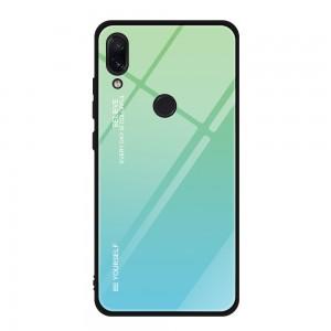 Capa Dura Emborrachada Vidro Temperado Gradiente Azul Claro Verde Claro Essager Be Yourself Xiaomi Redmi Note 7 Img 01