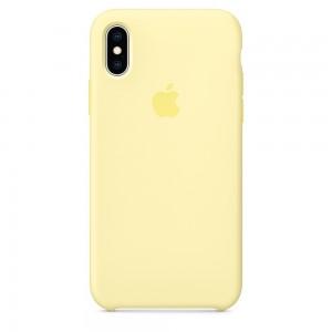Capa De Silicone Para Iphone Xs Amarelo Creme Img 01
