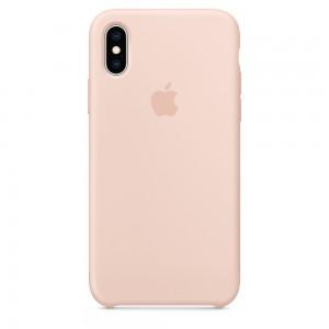 Capa De Silicone Para Iphone Xs Areia Rosa Img 01