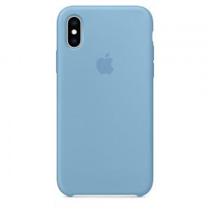 Capa De Silicone Para Iphone Xs Azul Centáurea Img 01