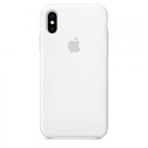 Capa De Silicone Para Iphone Xs Branco Img 01