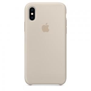 Capa De Silicone Para Iphone Xs Cinza Img 01
