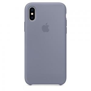 Capa De Silicone Para Iphone Xs Cinza Lavanda Img 01