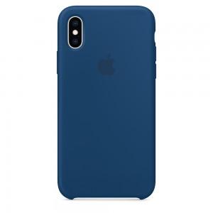 Capa De Silicone Para Iphone Xs Horizonte Azul Img 01