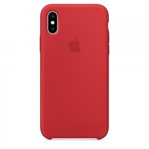 Capa De Silicone Para Iphone Xs Vermelho Img 01