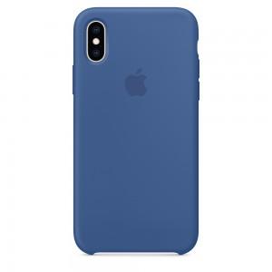 Capade Silicone Para Iphone Xs Azul‑holandês Img 01