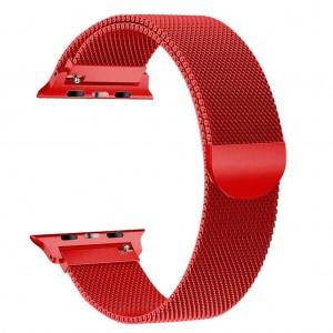 Pulseira Apple Watch Milanese Magnetica Vermelha Img 01