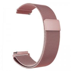Pulseira Milanese Metal Inoxidavel Rosa Xiaomi Amazfit Bip Img 01