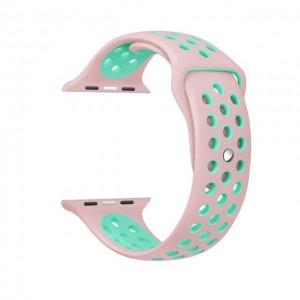 Pulseira Silicone Estilo Nike Apple Watch Rosa Verde Img 01
